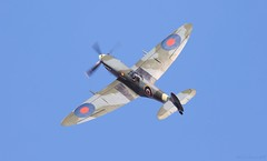 Supermarine Spitfire HF Mk.IX RR232 (City of Exeter) G-BRSF Lee on Solent Airfield 2018 (SupaSmokey) Tags: supermarine spitfire hf mkix rr232 city exeter gbrsf lee solent airfield 2018