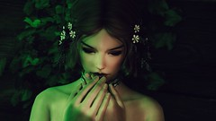 Touch of Green (xReyza) Tags: skyrim screenshot tesv portrait character enb maria