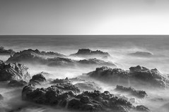Eternal battle of wind and water (PeterThoeny) Tags: pointmontaralight pointmontaralighthouse montarastatebeach pacific pacificocean ocean sea water beach day longexposure cottoncandy milkywater rock monochrome sony a7 a7ii a7mii alpha7mii ilce7m2 fullframe vintagelens dreamlens canon50mmf095 canon 1xp raw photomatix hdr qualityhdr qualityhdrphotography sunset sky landscape fav200 montara california