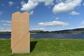 Caledonian Canal marker sign at Clachnaharry