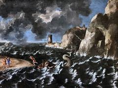 IMG_2378H Gaspard Dughet. 1615-1675 Rome Marine, Jonas rejeté par la baleine. Jonah rejected by the whale. Rouen Musée des Beaux Arts. (jean louis mazieres) Tags: peintres peintures painting musée museum museo france normandie rouen muséedesbeauxarts
