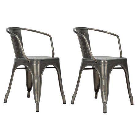DHP Elise Metal Dining Chair, Set of 2, Multiple Colors #vintageindustrialfurnit…