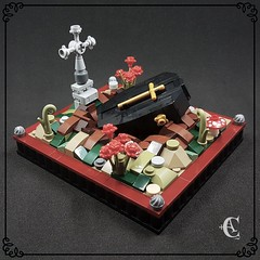 ✠ Circle of life ✠ (Corvus Auriac MOCs) Tags: burial tomb coffin death roses lego plastic art poetic cross gothic circle life