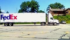 FedEx freight truck - HTT (Maenette1) Tags: fedex freight truck mmplaza menominee uppermichigan happytruckthursday flicker365 allthingsmichigan absolutemichigan projectmichigan