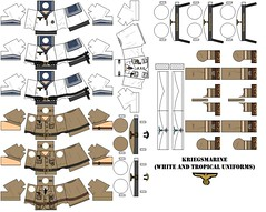 Kriegsmarine (white and tropical uniforms) (Desert fox Customs) Tags: ww2 wwii lego kriegsmarine decals custom minifig tropical uniform sailor