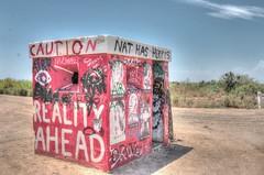 Reality Ahead (Spebak) Tags: spebak canon canondslr canon70d southerncalifornia socal california californiadesert desert bluesky realityahead caution