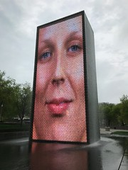 """Crown Fountain"" by Jaume Plensa (Black Rock Photo) Tags: chicago illinois windycity sculpture art fountain crownfountain milenniumpark jaumeplensa plensa outdoorsculpturepublic"