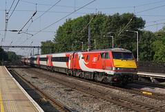91115 14-07-18 (IanL2) Tags: lner class91 91115 blaydonraces huntingdon ecml railways trains