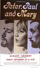 Peter Paul and Mary concert washington ave armory  1967 (albany group archive) Tags: 1960s old albany ny vintage photos picture photo photograph history historic historical