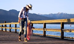 beach time (losy) Tags: kitsbeach ocean mom kid northshoremountains losyphotography