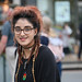 Smile (Cycling Road Hog 2018) Tags: candid canoneos750d citylife colour dreadlocks efs55250mmf456isstm edinburgh fashion lipstick people places scotland street streetphotography streetportrait style themound urban woman