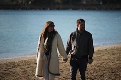 Beach stroll (neil.bather) Tags: beach stroll couple winter mission bay auckland new zealand love seascape