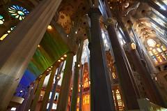 Unfinished in color (lizgr.92) Tags: nikon nikond5100 tokina tokina1116 church color gaudí gaudi barcelona spain eurotrip travel travelphotography