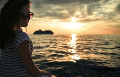Rovinj (Catstet) Tags: pentax nature travel 2470 people landscape sky girl water photo rovinj hrvatska sunset ship k1ii