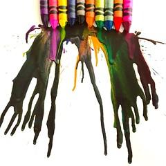7.21.18 (traceyellen) Tags: colors amateurartist crayola crayon melt photoaday