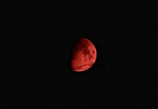 Scarlet Moonset