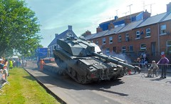 Armed Forces Day. Challenger 2 Tank. Coleraine. (Trevor Lawrence Photos Northern Ireland) Tags: challenger 2 tank armed forces day coleraine perkins diesel metcalfe farms haulage transporter county londonderry daf trucks exhaust