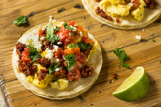 Homemade Chorizo Breakfast Tacos