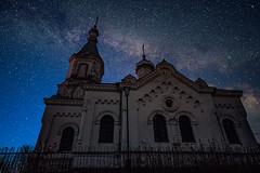 Church of St. Nicholas (free3yourmind) Tags: church st nicholas belarus night sky milky way stars starry