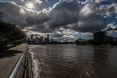 Afternoon Sunburst (OzzRod) Tags: pentax k1 irix15mmf24blackstone sunburst clouds river skyline brisbane queensland