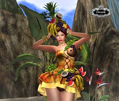 "SWANK - IrrISIStible ""Tropicale Beauty"" (lilyanarcana) Tags: swank irrisistible ethnic headpiece madras maitreya secondlife fruits island"