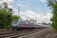 The Changing Of The Guard (Darryl Rule's Photography) Tags: 2018 acs64 aem7 amtrak bomberset brynmawr buckscounty catenary citiessprinter clouds cloudy delawarecounty eastbound electric inbound july keystonecorridor keystoneservice mainline neshaminyfalls outbound pa prr passenger passengertrain pennsy pennsylvania pennsylvaniarailroad railroad railroads readinglines readingrailroad septa spax summer sun sunny tower train trains villanova westbound