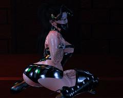 fera (ƒєяαℓιαѕ ℓєѕαηαя) Tags: sl secondlife latex shiny dark horns mask goth maitreya catwa