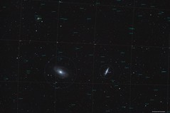 M81 & M82 (annotated) (Myrialejean) Tags: m81 m82 messier galaxy bodes cigar sky astrophotography astronomy ngc3077 ngc3031 ngc3034 pixinsight celestron skywatcher 100ed cgem night