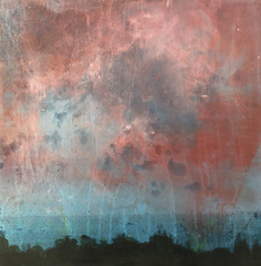 Sunset (clairerobinson1966) Tags: art painting acrylic wood plywood landscape clairerobinson gloucestershire paint sky sea land clouds red sunset