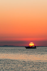 Dying embers (Anthony P.26) Tags: boat category erdek kapidag places seascape sunset transport travel turkey coastal sun clouds coastline outdoor sea evening water canon1585mm canon70d canon golden veil silhouette peace silence goldensky travelphotography landscapephotography