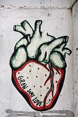 Grow Some Love (just.Luc) Tags: heart hart coeur herz urbanart streetart berlin berlijn allemagne deutschland duitsland germany text texte words woorden mots wörter lettres letters