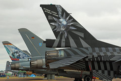 Jet Fighter Tails RAF Fairford RIAT 16th July 2017 (michael_hibbins) Tags: jet fighter tails raf fairford riat 16th july 2017 aircraft aviation aeroplane aerospace airplane aero airshow strategic figthing defence