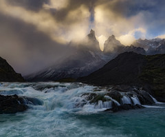 Heavens Peaks (Mark Metternich) Tags: markmetternich markmetternichcom mountain mountains peak peaks chile patagonia water waterfall waterfalls waterfalle wind windy storm drama dramatic tours tour workshops workshop south america brazil snow capped river lake clouds cloudscape