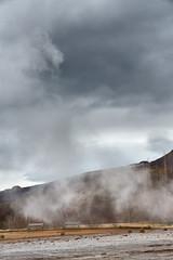 Geothermal Area 4 (pni) Tags: sky cloud water mountain fell tree steam bench strokkur geysir geyser goshver is18 iceland ísland pekkanikrus skrubu pni