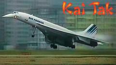 Awesome Air France CONCORDE at KAI TAK! (JustPlanes) Tags: airfrance concorde supersonic hong kong international airport kai tak landing spotting spotter