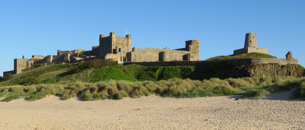 180708 Bamburgh Castle from the beach