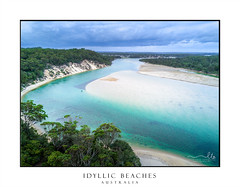 Beautiful beaches of Australia (sugarbellaleah) Tags: weather beach sand seaside inlet water pure crystalclear idyllic paradise holiday vacation bushland wilderness unspoilt storm clouds fun leisure recreation pretty stormy climate australia southcoast sandbar sandy trees gumtrees