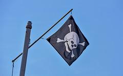Le Jolly Roger (Diegojack) Tags: morges vaud suisse d7200 nikon nikonpassion drapeau pirate ouchy vaudoise mats groupenuagesetciel