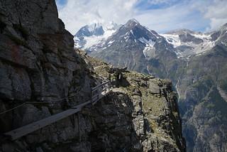 the Hiker @high route Grächen-Zermatt (VS)