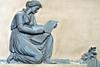 Trauerfigur in der Krypta (German Circle) Tags: rostock mecklenburgvorpommern kunst kultur relief fassade grab