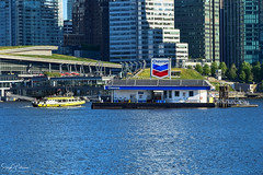 Vancouver Convention Centre - Coal Harbour (SonjaPetersonPh♡tography) Tags: vancouver bc britishcolumbia canada nikon nikond5300 coalharbor coalharbour canadaplace burrardinlet boats vessels chevron gasstation gas waterfront waterscape water inlet buildings cityscape city downtownvancouver