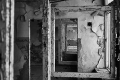 Perspectives, Factory Ruins, Poland (f/me) Tags: abstract abstractions art idea windows view views frames ruins ruined perspective perspectives moody mood monochrome monochromatic fuji fujinon fujifilm bw blackandwhite paint room factory emptiness depression depressed fallout