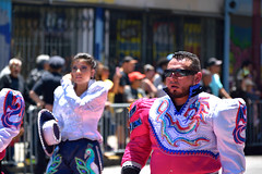 Carnaval Parade SF 36 (TheseusPhoto) Tags: carnaval carnaval2018 carnavalsf parade costume colors colorsoftheworld culture sanfrancisco missiondistrict missionsf streetphotography street people celebration guy man sunglasses beard