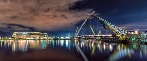 Stadium and Bridge