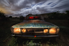 Requiem for a Dodge. (Carlos Server Photography) Tags: dodge fotografianocturna nightscapes nightshot nightphotography cars coches abandonos abandoned longexposure landscapes lighpaintig canon canon6dmark2 samyang14mm largaexposición