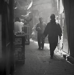 Kebab street (Mark Dries) Tags: markguitarphoto markdries morocco hasselblad500cm planar 80mm28 ilford fp4 rodinal 125 900 66 mediumformat 6x6 film streetphotography