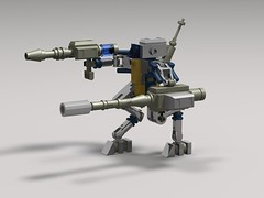 baboon droid 17sr(3) (demitriusgaouette9991) Tags: lego military army ldd armored droid robot runner mecha future powerful railgun walker