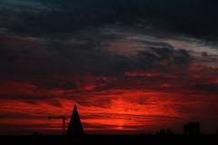 Crimson sunset from Brixton Hill, London (theodoritsis) Tags: brixton brixtonhill london londonskyline sunset crimsonsunset canon400d