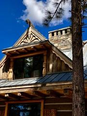 Blue Skies of Summer (The VIKINGS are Coming!) Tags: woodcarving viking okhlupen rus vikingsholm fasciaboards wood teak haus baita chalet hutte hytte vorwerk