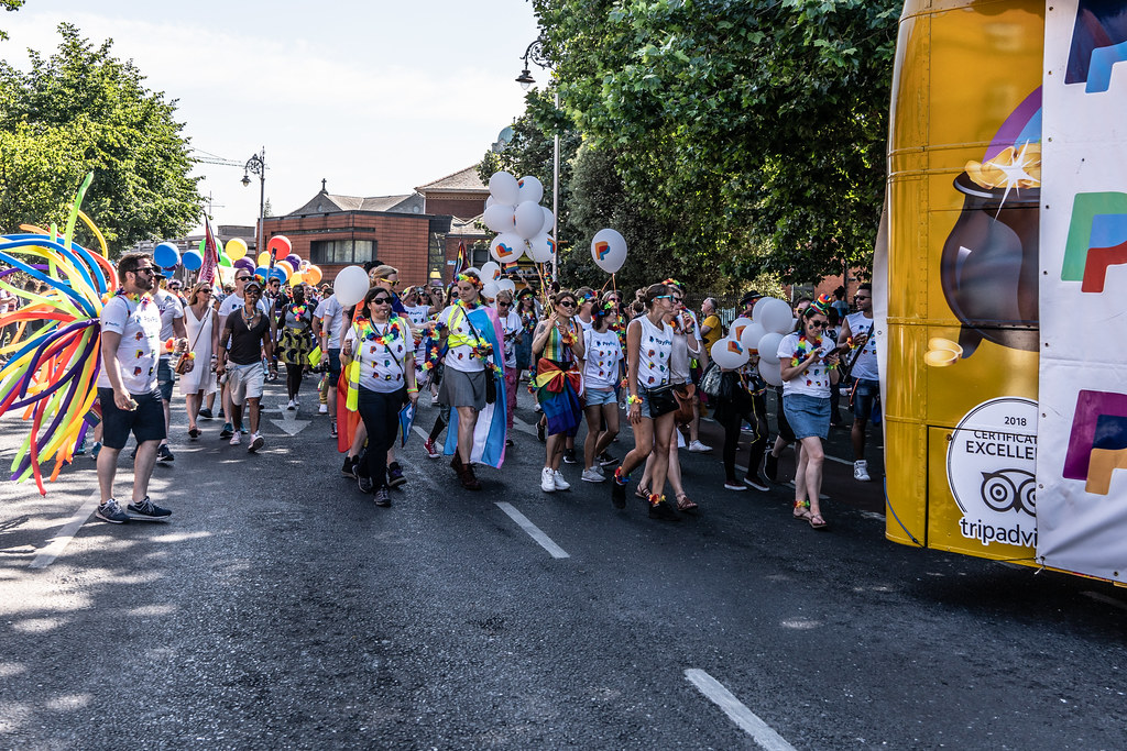 ABOUT SIXTY THOUSAND TOOK PART IN THE DUBLIN LGBTI+ PARADE TODAY[ SATURDAY 30 JUNE 2018] X-100131